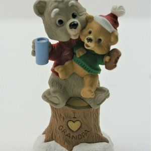 1995 Hallmark Christmas Grandpa Bear and Child NEW